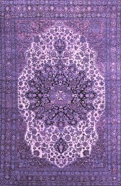 Overdyed purple rug