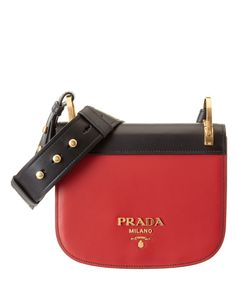 1f9def5874dd ... denmark prada pionniere calf leather saddle bag red black 6700d 407ba