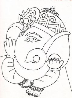 Design Patterns for Paintings/ Sketches : Ganesh, Durga, & Lord ...