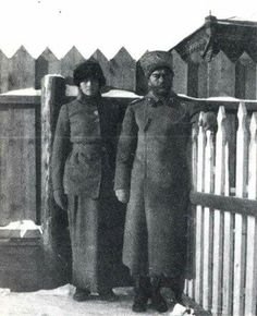 "Possibly the last photo of Tsar Nicholas ll of Russia with his daughter Grand Duchess Tatiana Nikolaevna Romanova of Russia at Tobolsk. ""AL"""