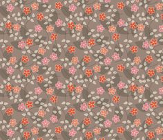 Coral Blossom fabric by kayajoy on Spoonflower - custom fabric