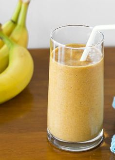 Skinny Banana Pumpkin Spice Smoothie!