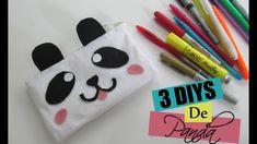 3 DIYS de Panda   Estojo de feltro sem costura   Wivye