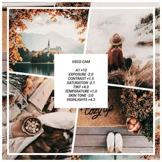 vsco filter & theme idea EMILIE --- Filter type : Warm pink autumn khaki beige yellow brown orange . suggested use for outdoor photos .