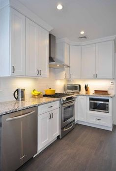 White Shaker Kitchen Cabinets white ceramic subway tile | apron sink, gray cabinets and grey