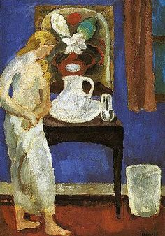 The blue room,Wissett Lodge - Vanessa Bell 1916 Bloomsbury Group Post-impressionism Vanessa Bell, Virginia Woolf, Dora Carrington, Duncan Grant, Clive Bell, Bell Art, Bloomsbury Group, Post Impressionism, Blue Rooms