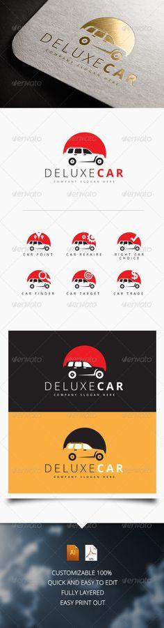 Deluxe Car Logo ...  auto, automobile, blue, brand, brand logo, branding, car, car logo, company logo, corporate, creative logo, dealer, design, green, lines, logo, mechanic, mock up logo, professional, red, service, sports, stationery