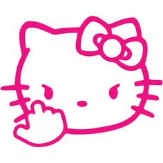 Hello Kitty Angry Middle Finger Die Cut Car Window Laptop Vinyl Decal Sticker Select Color & Size by juicydecals on Etsy https://www.etsy.com/listing/238254604/hello-kitty-angry-middle-finger-die-cut