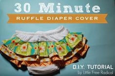 Turn an ordinary diaper cover into a ruffle bum cover in 30 minutes!