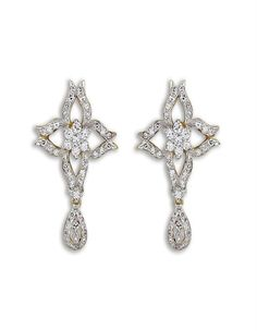 Star Shape Diamond Earring on www.diamonds4you.com