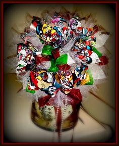 Harley Quinn Bridal Bouquet