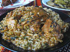 Яхния с пиле, спанак и ориз