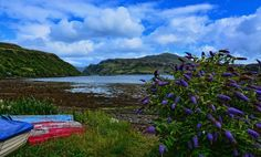 Portree, Loch Portree and the sound of Raasay, Isle of Skye
