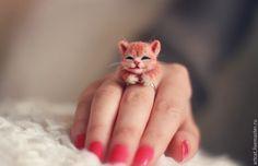 Купить Кото-кольцо кошечка - рыжий, кот, кошка, кошечка, котик, котенок, котокольцо, cat