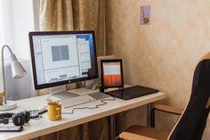 Workplace Office Space of Sasha Tikhonov  http://www.techirsh.com