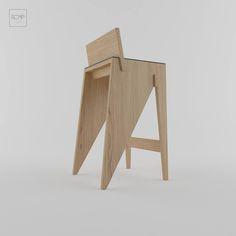 Bar stool BCD01 by ROMP #ROMP #design #furniture #chair #barchair #barstool #wooden #wood #wool #oak #ukraine