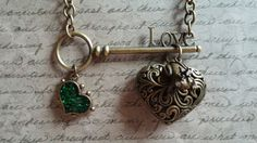 LOVE Skeleton Key with Frog with Crown Prince by BezelsandBeyond