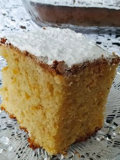 Greek Sweets, Greek Desserts, Greek Recipes, Cooking Cake, Greek Dishes, Cornbread, Vanilla Cake, Food And Drink, Ice Cream