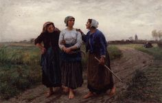 Setting out for the Fields  Jules Adolphe Breton, 1873
