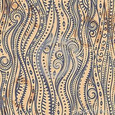 Vintage Seamless With Ethnic Waves - Download From Over 35 Million High Quality Stock Photos, Images, Vectors. Sign up for FREE today. Image: 38084755