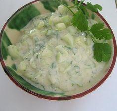 Raita, ensalada hindú de pepino