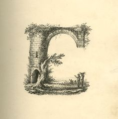 This series, found within the archives of the British Museum, is exactly what it advertises: 26 landscape scenes shaped as letters of the alphabet. The lithographs are from sometime between 1818 and 1860 and were printed by an illustrator named Charles Joseph Hullmandel.  http://www.britishmuseum.org/research/collection_online/collection_object_details.aspx?objectId=3402039&partId=1