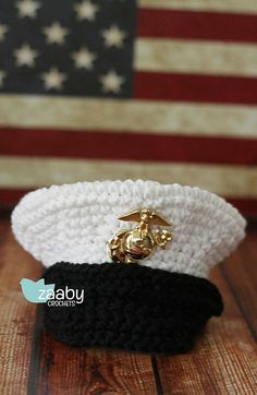Hey, I found this really awesome Etsy listing at https://www.etsy.com/listing/165040705/crochet-hat-inspired-marines-dress-blues