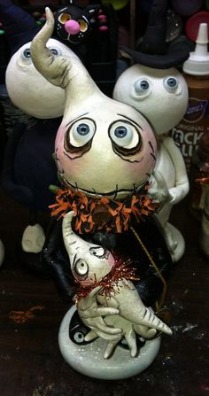Halloween Grimmy Boo Boo Ghost with baby art doll by SpookyHollow, $75.00