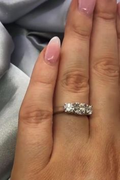 You can't go wrong with simple engagement rings. This beautiful engagement ring features three sparkling diamonds. Elegant Engagement Rings, Three Stone Engagement Rings, Diamond Engagement Rings, Wedding Rings, Beautiful Diamond Rings, Round Diamond Ring, Round Diamonds, Gold Platinum, Eternity Ring