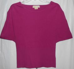 MICHAEL KORS Women Size S Small Top/Blouse/Sweater Purple Short Sleeve #MichaelKors #Pullover #Casual