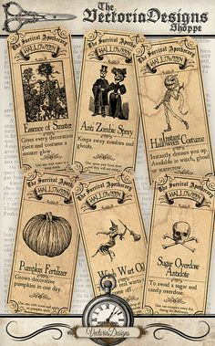 Survive Halloween Apothecary Labels printable paper craft art