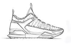 Sonneahy Run Forrester sneaker sketch