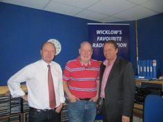 Peter Moran of East Coast FM, Declan Meehan presenter at East Coast FM and Peter Fry CEO Dun Laoghaire Rathdown Chamber of Commerce www. Chamber Of Commerce, East Coast, Interview