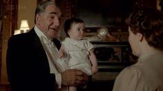 Mr. Carson babysits little Sybil.
