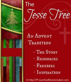 The Jesse Tree - An Advent Tradition. Resources, freebies, and inspiration for advent. ProverbialHomemaker.com
