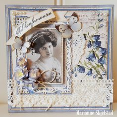 A confirmation card by Marianne using My Beloved Son and Pion Design Palette papers