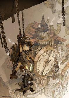steampunk-art — steampunktendencies: Illustrations by Demizu. Ville Steampunk, Steampunk City, Steampunk Kunst, Steampunk Crafts, Steampunk Wedding, Steampunk Fashion, Steampunk Drawing, Steampunk Artwork, Steampunk Wallpaper