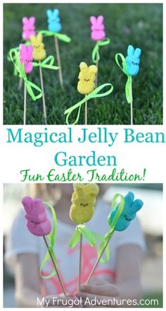 Magic Jelly Bean Garden- fun and magical Easter tradition for kids!  I just adore this.