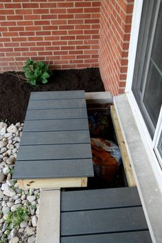 exterior planting ideas and turning a planter into a storage bench