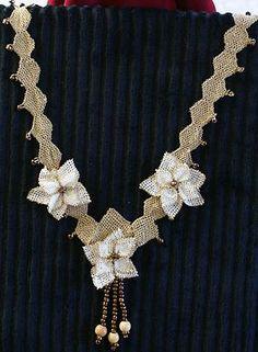 Needle Lace Turkish Oya Handmade Necklace Unique Anatolian