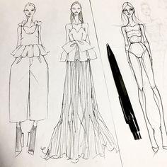 Fashion Model Sketch, Fashion Design Sketchbook, Fashion Design Drawings, Fashion Sketches, Fashion Drawing Dresses, Fashion Illustration Dresses, Fashion Design Template, Illustration Mode, Fashion Figures