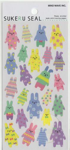 Cute Kawaii Japanese Translucent Stickers Derpy Rabbits!  https://www.etsy.com/listing/186261863/kawaii-japan-sticker-sheet-assort?ref=shop_home_active_6