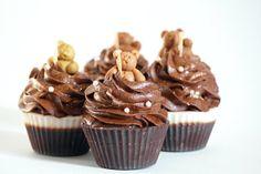 Teddy Bear Hot Cocoa Soy Cupcake Candles (4)