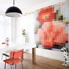 ixxi Muurdecoratie Patchwork Flower - 200 x 220 cm