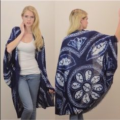 """The JENA kimono - NAVY Brand new, ️NO tags. 100% polyester. Approximately 45"""" long. ️AVAILABLE IN BROWN, NAVY & BURGUNDY. ‼️️NO TRADE, PRICE FIRM‼️ Accessories"""