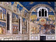 Giotto, Arena (Scrovegni) Chapel, Padua, c. 1305 (Part 1 of Mystery of History Volume Lesson 72 Ap Art History 250, Mystery Of History, Italian Renaissance, Renaissance Art, Medieval Art, Siena, Andrea Palladio, Brick Architecture, Catholic School
