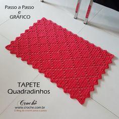 SEO Tips and Tricks for Interior Design Companies - Crochet Filet Knitting Stiches, Crochet Stitches, Crochet Patterns, Crochet Home, Crochet Baby, Knit Crochet, Crochet Table Runner Pattern, Fabric Rug, Tunisian Crochet