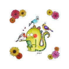 Dracs i ocells (birds and dragons) by florsdefum on Behance