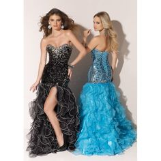 Dropped Sweetheart Organza Beading Cascading Lace Up Long Prom Dress