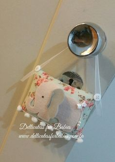 Almofadinha para maçaneta Elefante - Dellicatess for Babies